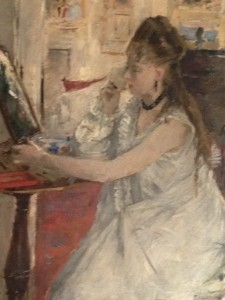 Berthe Morisot Young Woman Powdering Her Face 1877