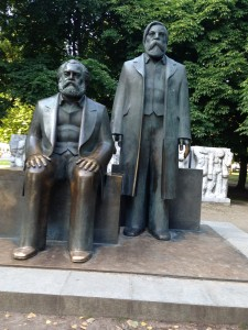 Marx on the Left; Engels on the Right