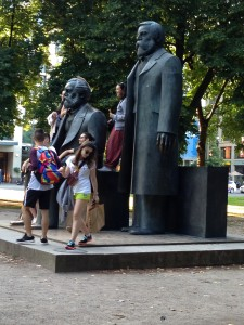 Marx and Engels with Company